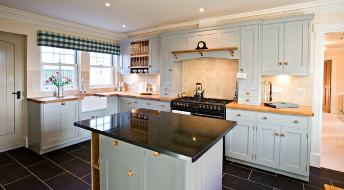 kitchen with built in cupboards and worktops
