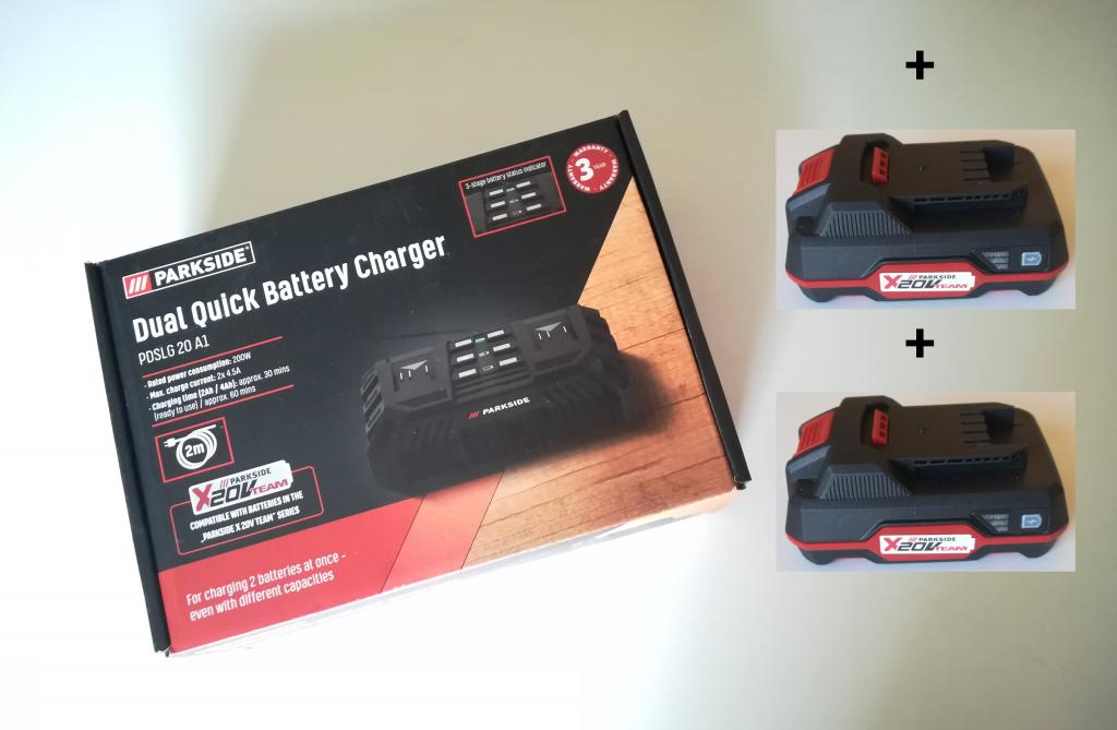 Battery charger for Parkside tools 20V