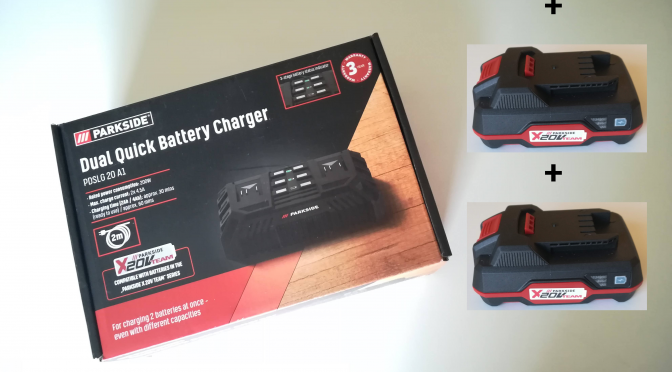 Parkside Double Battery Charger